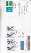 Chine - Lettre Recommandée De 2006 - Oblit Hangzhou - Oiseaux -