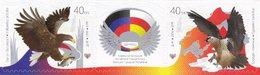 Ukraine 2016 (Donetsk Republic), Diplomatic Relation With South Ossetia, 2v & Label - Ukraine