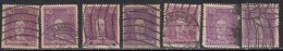 40pf X 7 Diff,, Paper, Shades, Etc 1926 Used Leibniz, Mathematics Polymath Physics Science Computer Geology, Reich