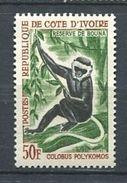 194 COTE D IVOIRE 1963/64 - Yvert 220 - Singe -  Neuf ** (MNH) Sans Trace De Charniere