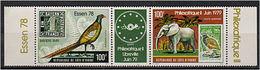 194 COTE D IVOIRE 1978 - Yver A 70A - Philexafrique II - Oiseau Elephant Vignette Verte -  Neuf ** (MNH) Sans Charniere