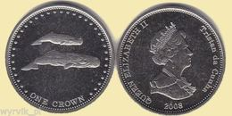 TRISTAN Da CUNHA 2008 1 Crown Whales UNC - Monete