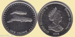 TRISTAN Da CUNHA 2008 1 Crown Whales UNC - Sonstige Münzen