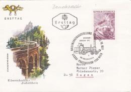 Austria FDC 1971 Eisenbahnjubiläen (T8A10)