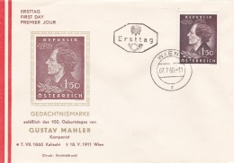 Austria FDC 1960 Gustav Mahler (T8A10)