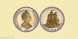 TRISTAN Da CUNHA Stoltenhoff Island 2008 25 Pence Bimetal Ship UNC - Monnaies