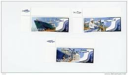 Namibie 2004-Poissons,bateau,pêche-YT 1017/19***MNH-SANS Bord De Feuille