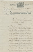952/24 - Document An 4 République Française En BELGIQUE - COURTRAY à BRUGES - Réquisition De Charretiers Militaires - Documents Historiques