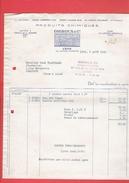 FACTURE 1942 PRODUITS CHIMIQUES GIGNOUX 20 COURS MORAND A LYON RHONE USINE A NEUVILLE SUR SAONE GARE VILLEVERT NEUVILLE - Francia
