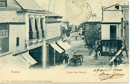 CHILI - TACNA - Calle San Martin. - Chile