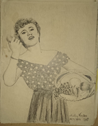 Dessin Au Crayon - Illustrateur Signé - Shelley Winters, De Son Vrai Nom Shirley Schrift, Est Une Actrice  Ameri    (11) - Oeufs