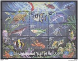 T31 Liberia - MNH - Marine Life
