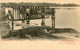 CONGO(TYPE) CHASSE AU CROCODIL - Congo - Brazzaville