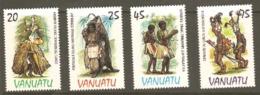 Vanuata 1985 SG 398-01 Traditional Costume Unmounted Mint - Vanuatu (1980-...)
