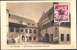 FRANCE LIBERATION  . RRR.. COLMAR 12pf +8pf Rouge. (788). Signé P MAYER