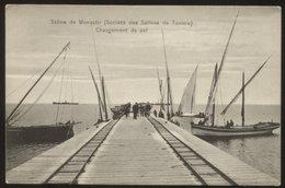 TUNIS - MONASTIR - SALINE Old Vintage Postcard