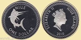Niue 2010 Swordfish 1 $ Dollar UNC Prooflike - Niue