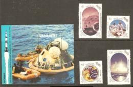 Vanuata 1989  SG 530-4 Apollo 11 Including Miniature Sheet Unmounted Mint