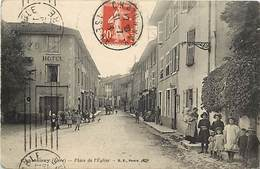 -ref-P897- Isere - Chatonnay - Place De L Eglise - Hotel - Hotels - Enfants -