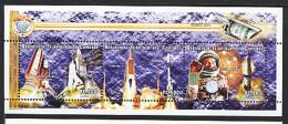 COMORES 1999, ESPACE, DISCOVERY, ARIANE, GLENN... 3 Valeurs En Feuillet, Neuf** / Mint**. R1217
