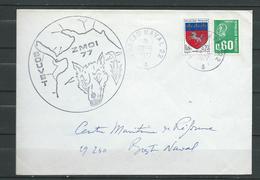 E.E. BOUVET - Mission ZMOI 1977 -TàD BUREAU NAVAL 22 - 29/06/77 - Marcophilie (Lettres)