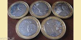 JOHN PAUL II Set Of 5 Coins Bimetals UNC - Monete