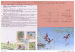 Folder Taiwan 2000 Stream Dragonflies Stamps Dragonfly Fauna River Rock Insect