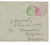 India Cover 1905 Via Sea Post Office To Belgium Brussels PR4056
