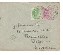 India Cover 1905 Via Sea Post Office To Belgium Brussels PR4056 - 1902-11 King Edward VII