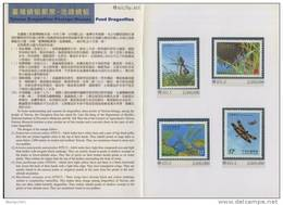 Folder Taiwan 2003 Pond Dragonflies Stamps Dragonfly Fauna Lotus Insect