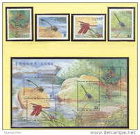 Taiwan 2000 Stream Dragonflies Stamps & S/s Dragonfly Fauna River Rock Insect