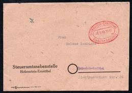 3142 - Alter Beleg Brief - Freistempel Freistempler Hohenstein Ernstthal 1948