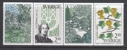 Schweden 1987 - Botanische Garten, Michel 1453/56, MNH**