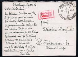 A0945 - Alter Beleg Künstlerkarte - Sonderstempel Oberlungwitz 1946