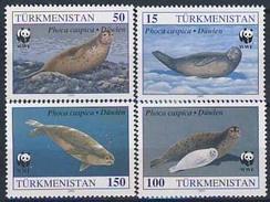 MDW-BK1-023 MDN MINT PF/MNH ¤ TURKMENISTAN 1993 4w In Serie ¤ WWF - SEAL - ENDANGERED ANIMALS