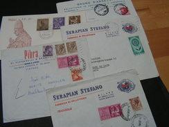 Italy  5 Briefe - Briefmarken