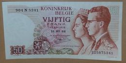 "Billet - BELGIQUE - 50 Francs -16.05.66 - NEUF, UNC - Type ""Baudouin Et Fabiola"" - D'Haeze - - [ 6] Tesoreria"
