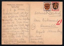 0560 - Alter Beleg Künstlerkarte - Baden Baden 1946
