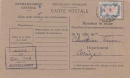 268 France Ravitaillement Gironde Cauderan - Briefe U. Dokumente