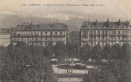 CPA 38 GRENOBLE La Place Victor Hugo Et Montagne Du Taillefer 1915 (texte Très Interessant)