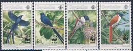 MDW-BK1-029 MDB MINT PF/MNH ¤ SEYCHELLES 1996 4w In Serie ¤ WWF - BIRDS - ENDANGERED ANIMALS