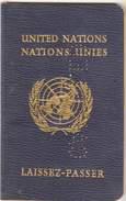 UNITED NATIONS Passport Passeport Reisepass 1963 - Visa Congo - Documents Historiques