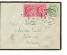 India Cover Ahmednagar 1906 To Belgium Brussels PR4058 - 1902-11 King Edward VII
