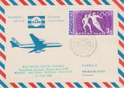 HONGRIE JEUX OLYMPIQUES De MEXICO 1968 COMPAGNIE AERIENNE KLM