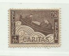 Timbre Belgique Oeuvre Philanthropique Cancéreux Tuberculeux Aveugles Série Dit Barquettes N° 249  25c + 10c - Belgium