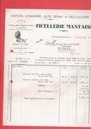 FACTURE DE GUERRE 1940 TAXE D ARMEMENT FICELLERIE MANTAISE A MANTES SUR SEINE YVELINES - 1900 – 1949
