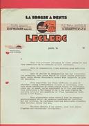 FACTURE DE GUERRE 1940 LA BROSSE A DENTS LECLERC 85 BOULEVARD VOLTAIRE A PARIS 11 - 1900 – 1949