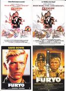 "Lot De 4 Cartes "" FURYO ""  "" OCTOPUSSY James Bond 007"" - Posters On Cards"