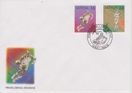 FDC LETTONIE 1996 JEUX OLYMPIQUES D ' ATLANTA