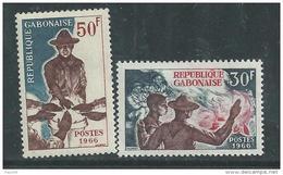 Gabon N° 199 / 200 XX Scoutisme : Les 2  Valeurs Sans Charnière, TB
